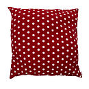 Large Red And White Spot Cushion