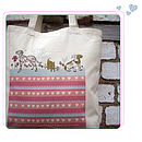 lovely dogs cotton bag