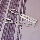 Personalised Silver Occasions Keyring