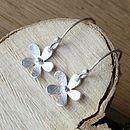 Handmade Silver Daisy Drop Earrings