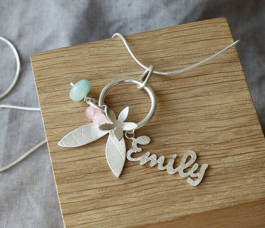Handmade Silver Personalised Name Necklace By Caroline