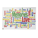 Personalised 'Memories' Word Art Canvas