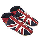 Men's And Child's Union Jack Slipper Set