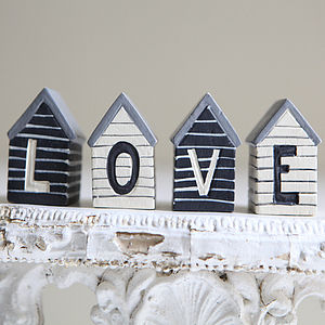 Small Beach Huts - decorative letters