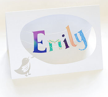 Handmade Personalised Paper Cut Card