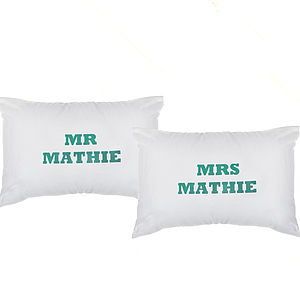Personalised Mr & Mrs Pillowcases - bedroom