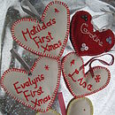 Hand Embroidered Christmas Tree Decorations