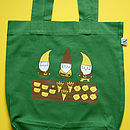 Organic Allotment Gnomes Tote Bag