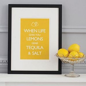 'When Life Gives You Lemons…' Print - gifts for her