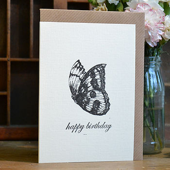 'Happy Birthday' Butterfly Card