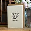 'Get Well Soon' Teacup Card