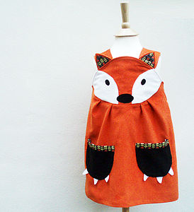 Girls Fox Play Dress - dresses & skirts