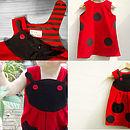Girls Ladybird Dress Up Costume