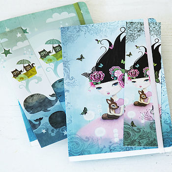 Illustrated Notebook And Bookmark
