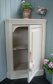 Hand Painted Corner Cupboard