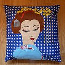 Embroidered Geisha Cushion Cover