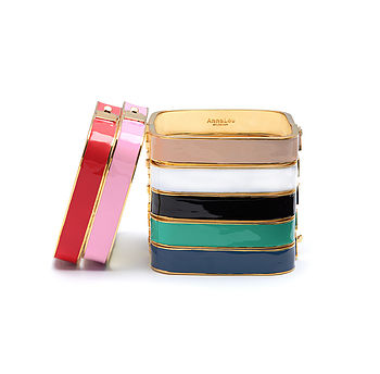 Stacked square bangles