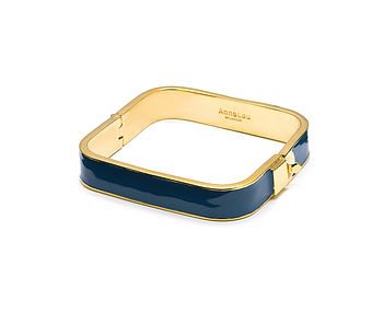 Navy square enamel bangle
