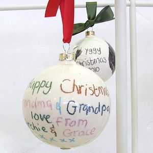 Personalised Ceramic Christmas Bauble - decorative accessories