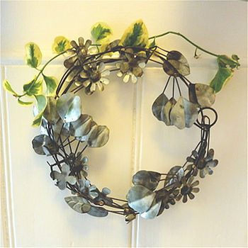 Metal Flower Garland