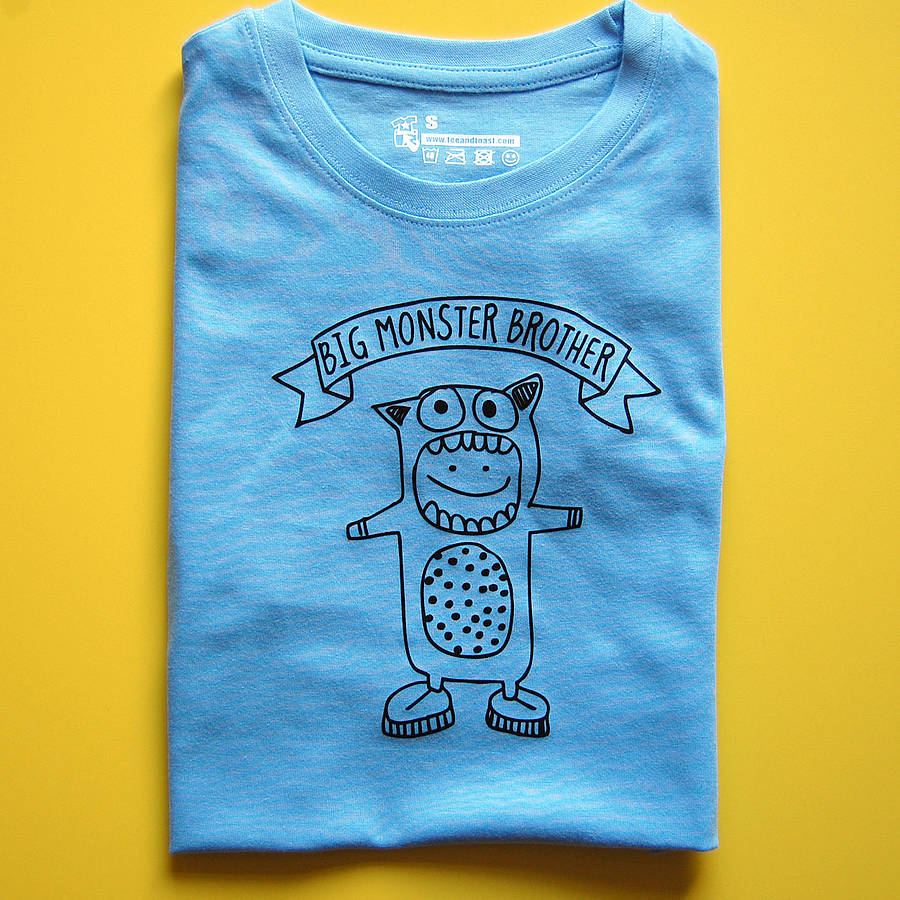 Wee Or Big Monster Brother T Shirt