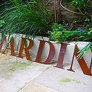 Oversized Rusted Garden Letter