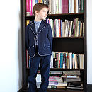 Boy's Blazer With Dotty Lining
