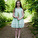 Mint Bow Broderie Dress