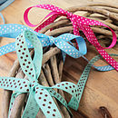 Ribbon: Polka Dot Collection 5m Lengths