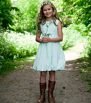 Mint Rose Broderie Cotton Dress