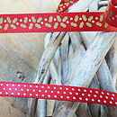 Ribbon: Holly/ Spot Range 5m Lengths
