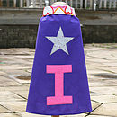 Purple star dressing up cape