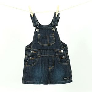 Girls Denim Bib Dress