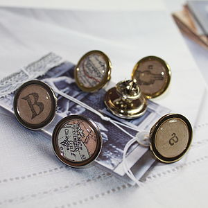 Personalised Vintage Map Pin Badge - stocking fillers under £15