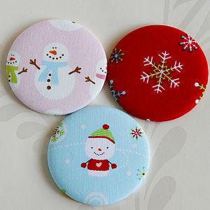 Christmas Handbag Mirror,Snowman Or Snowflake - goodie bags & gifts for goodie bags