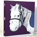 Pony Portrait Canvas Personalised