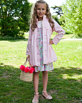 Girl's Bubble Hem Trench Coat