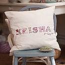 Personalised Name Cushion