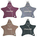 Heather,Lavender,Fawn & Charcoal Star Wraps