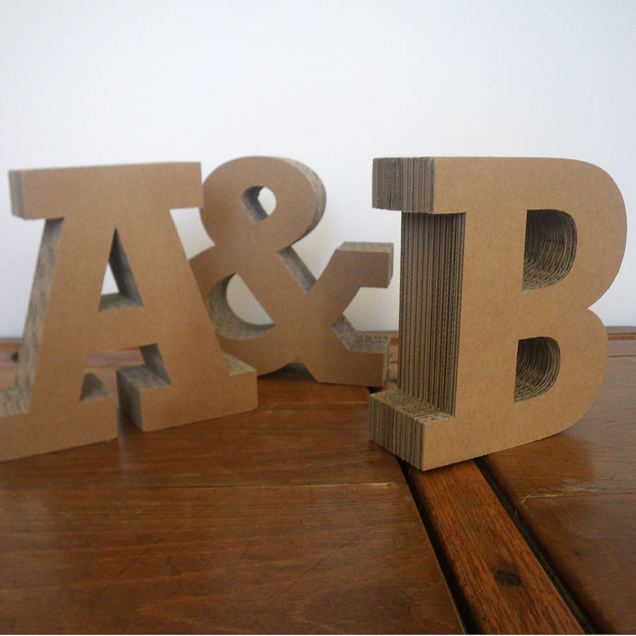 Chunky cardboard letters by letterfest for Cheap 3d cardboard letters
