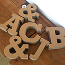 Chunky Cardboard Letters