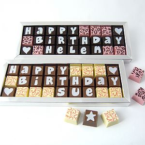Personalised Chocolates For BIRTHDAYS - personalised gifts for her