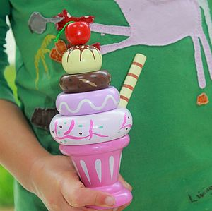 Wooden Ice Cream Sundaes - traditional toys & games
