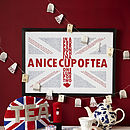 Quintessentially British Union Jack Typograhpic Print