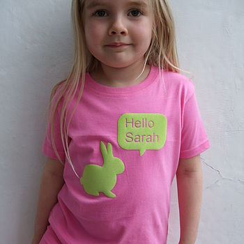 Personalised Girls Rabbit T Shirt