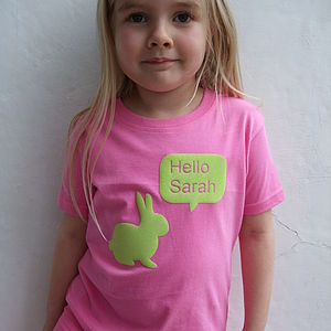 Personalised Girls Rabbit T Shirt - gifts for children
