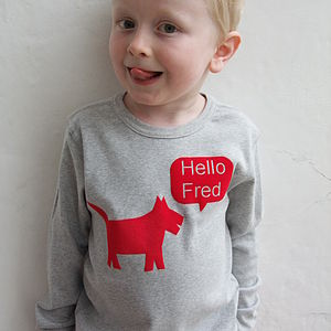 Personalised Children's Dog T Shirt - for children