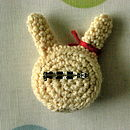 Handmade Crocheted Bunny Brooch