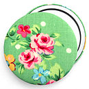 'Floral' Fabric Compact Mirror