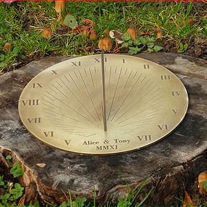 Personalised Galileo Brass Sundial - last-minute gifts